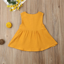 Kids Baby Girls Dress Sleeveless Clothes 0-3Y