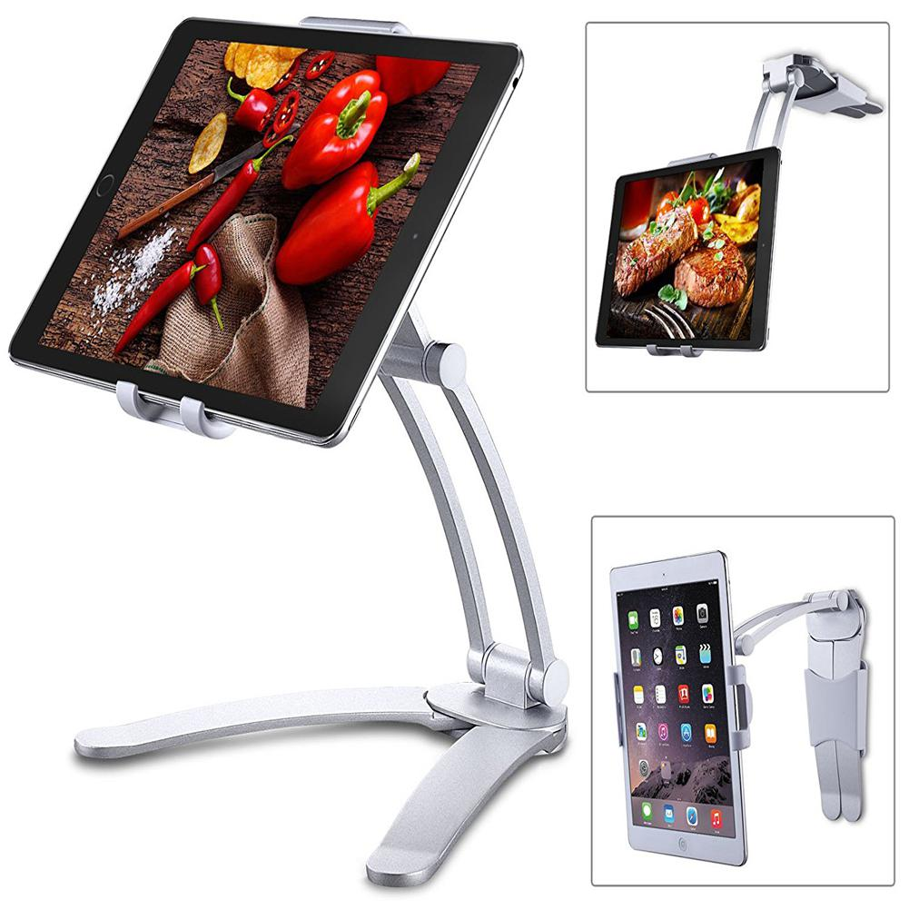 HobbyLane Kitchen Tablet Stand Adjustable Holder Wall Mount For IPad Pro, Surface Pro, IPad Mini D20