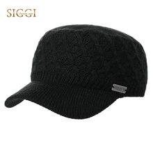 FANCET otoño invierno cálido Unisex de punto de lana sombrero militar para  los hombres de las e62b6bd0e5b