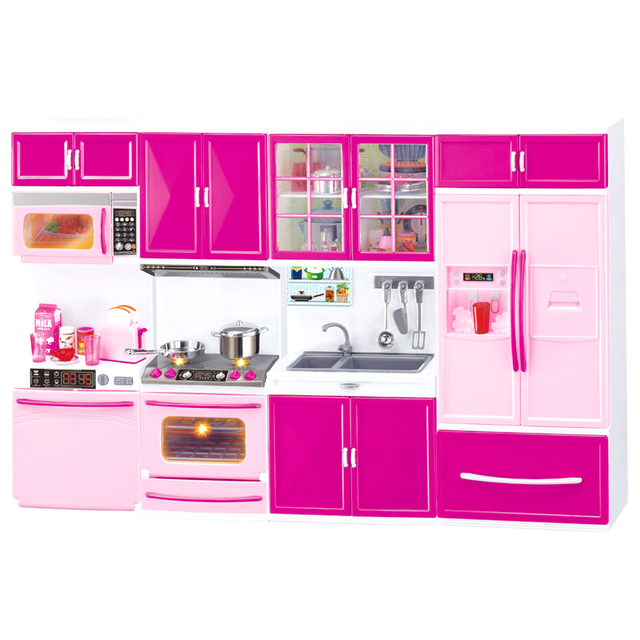 US $16.94 |small Kitchen toys Kids Pretend Role Play Toy Set Kitchen Play  Toys mini Refrigerator Kitchen counter Microwave Baking oven-in Kitchen  Toys ...