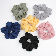 On Sale 1pcs New Large Hair Bows Scrunchies Silk Ponytail Holder Accessories Elastic Bands Bowknot Scrunchy Gum