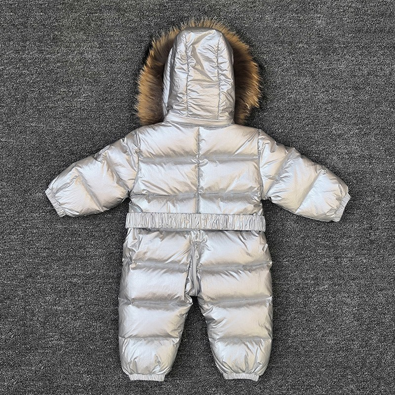 bc5f359b8 30 degrees baby girl jumpsuits Russia winter baby clothing snow wear down  jacket snowsuits for kids coats boys girls clothes-in Snow Wear from Mother  & Kids ...