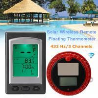 Solar Wireless Swimming Pool Thermometer Digital Swim Floating Hot Tub Pond Spa Wireless Distance 100m 3 Channels Calendar