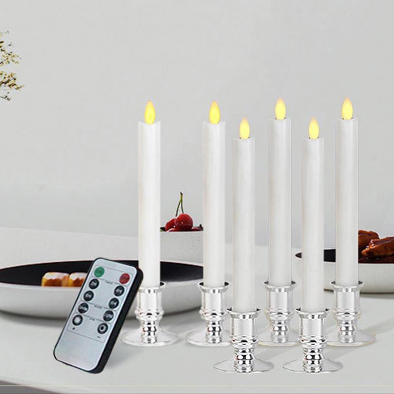 Led Restaurant électronique simulé batterie bougie lumière Swing Blush bougie Bar scintillement flamme 10 clé télécommande