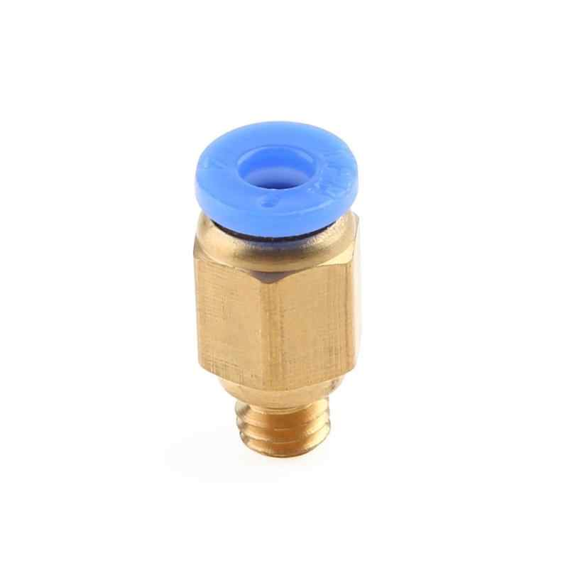 PC4-M6 Fast Joint 3D Connectors 3D Printer Parts Pneumatic Connector Quick Copper Gas Pipe Connector Thread Accessories
