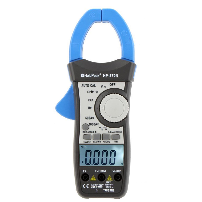 Timer Werkzeuge Holdpeak Hp-870n 1000a True Rms Auto Range Digital Clamp Meter Kondensator Temperatur Meter 6000 Zählt Mit Dual Lcd Backligh