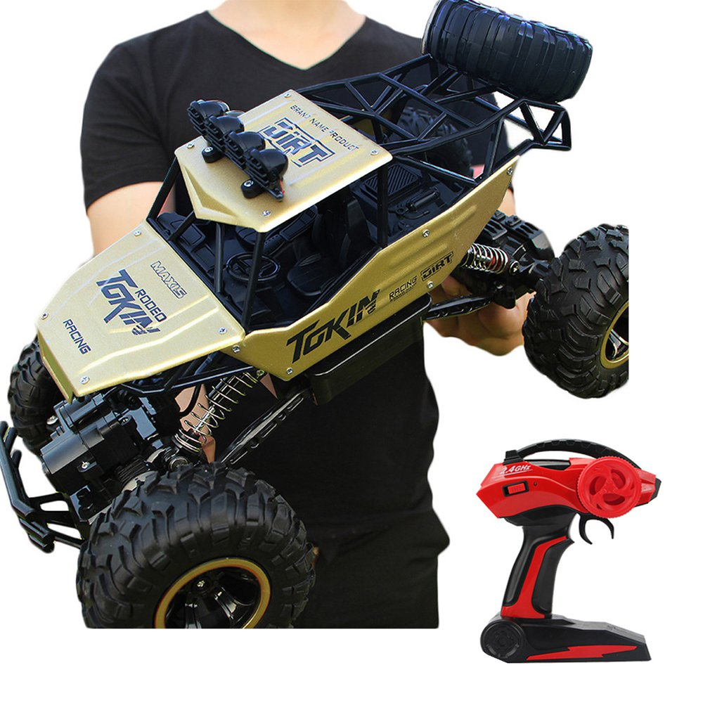 2.4 GHz High Speed Remote Control Car Scale Off Road RC Trucks Two Rechargeable Batteries Racing Toy Car for Adults Kids2.4 GHz High Speed Remote Control Car Scale Off Road RC Trucks Two Rechargeable Batteries Racing Toy Car for Adults Kids