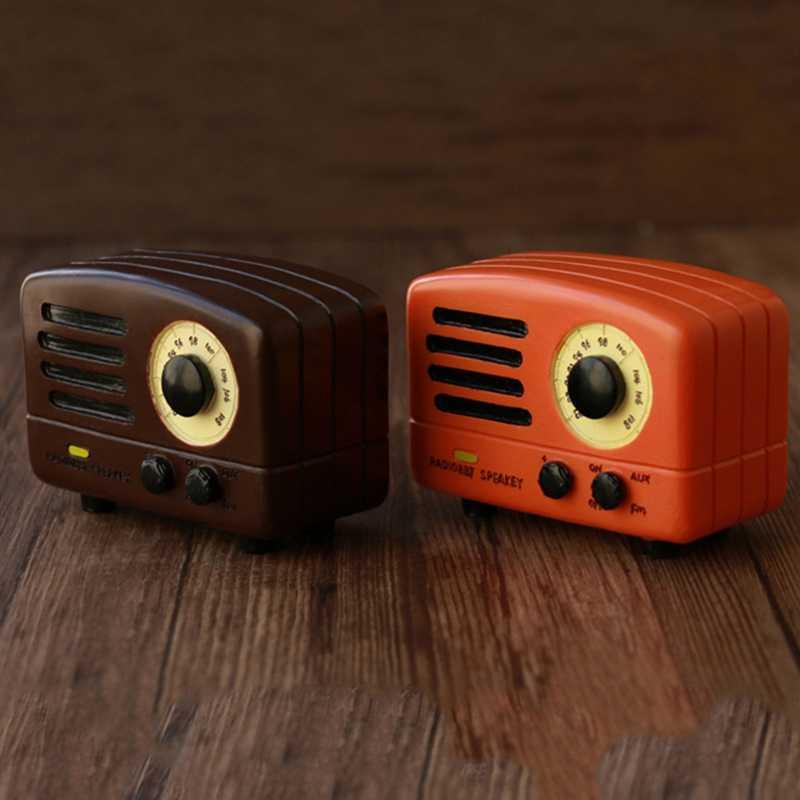 Ретро ностальгические радио Музыкальная шкатулка украшения дома 1 шт. классических квадратный рукоятка Изысканный Ретро подарочные музыкальные шкатулки