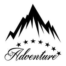 17.6cm*17.3cm Eight Stars Surround Mountains Adventure Precious Vinyl Car Sticker Window Decal 15 6cm 12 6cm delicate adventure awaits mountains unusual vinyl car sticker window decal