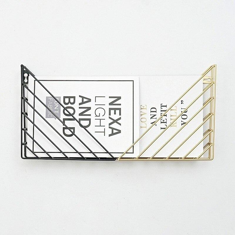 LM Metal Wire Wall Magazine Rack Bin Newspaper Rack Wall Mounted Mail Sorter With Chalkboard Label
