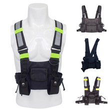цена на Nylon Glitter Waist Packs Vest Hip Hop Streetwear Functional Tactical Harness Rig Chest Bag Casual Travel Punk Bags Waist Packs