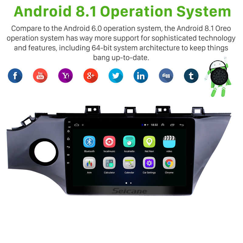 Seicane 10.1 inch Android 8.1 HD Touch screen GPS Navigation System for KIA RIO K2 2017 2018 Head Unit  Radio AUX MP3 Car