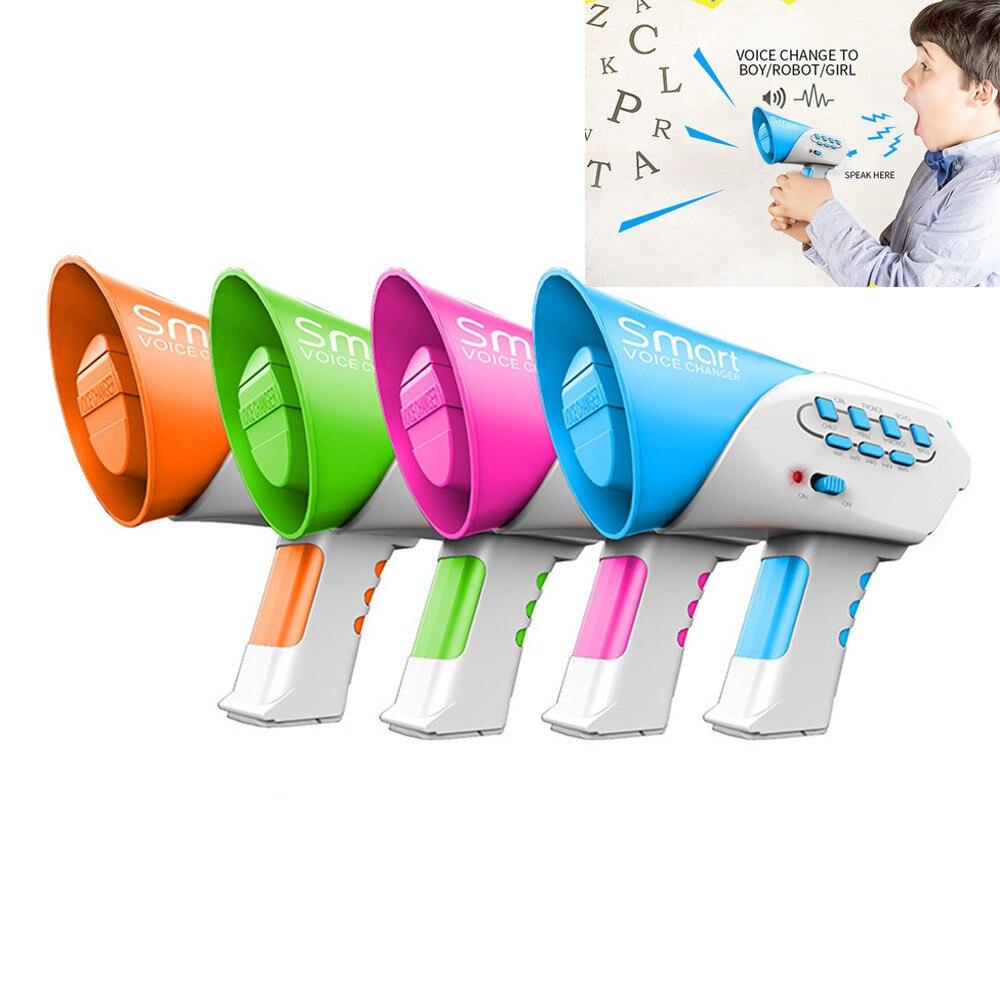 Juguetes altavoz de cambiador de voz divertido creativo voz cambiando juguetes con 7 diferentes voz modificadores para el regalo de los niños