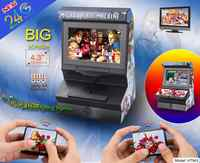 New 8 Bit 4.3 inch Mini Retro Wireless Arcade Handheld Game Console,Double Joysticks Big Screen video game With 300 Games