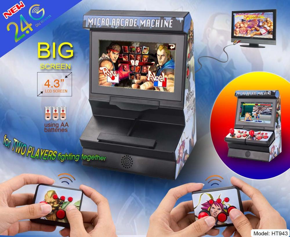 Nouveau 8 Peu 4.3 pouces Mini Rétro Sans Fil Arcade console de jeu portable, Double Joysticks Grand Écran jeu vidéo Avec 300 Jeux