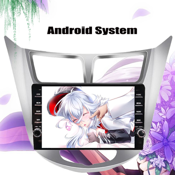 Android 10.0 Car Multimedia Player Car DVD For Hyundai Solaris Verna Accent 2010-2018 2019 Car GPS Radio Video Navigation System