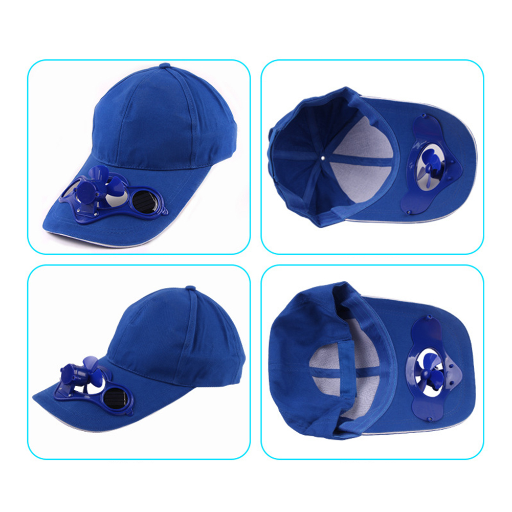 Unisex Summer Outdoor Sports Baseball Caps Hats with Solar Power Cooling Fan New