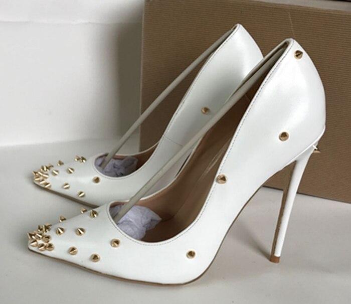 cc1057c04e6 Mujer Altos Blancos Para Oficina De Zapatos Puntiagudos Bombas Y En Gran  12cm Tacones 10cm Ventas Tamaño Negros ...
