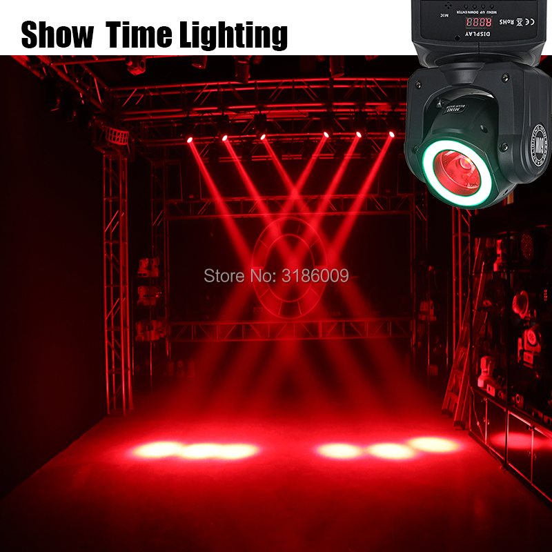 Mini led spot solar light with led strip light disco dj show RGBW 4 IN 1 60W Beam and Wash effect moivng head for KTV DJ Party in Stage Lighting Effect from Lights Lighting