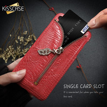 protective pu leather case cover stand w dual card slot for iphone 5 5s red KISSCASE Luxury Leather Case For iPhone 6 6S 7 Plus 5 5S SE Leaf Crocodile Pattern Card Slot PU Cover For Galaxy S6 S7 Edge Capa