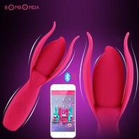 Bluetooth USB Rechargeable Wireless APP Vibrator Vagina Massager Clitoris Stimulation AV Vibrating Sex App Vibrator Sex Toys A3