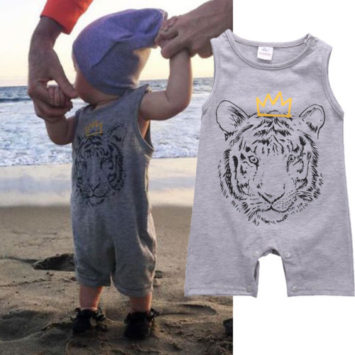 Newborn Baby Kid Boy Clothes Tiger Cotton   Romper   Jumpsuit Playsuit Outfits Harem Clothes