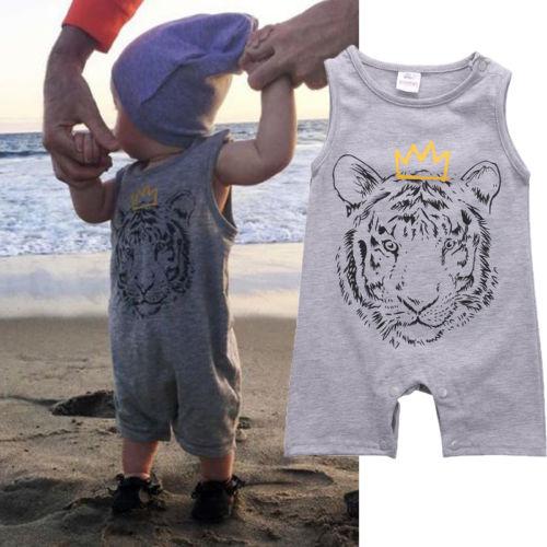 Newborn Baby Kid Boy Clothes Tiger Cotton   Romper   Jumpsuit Playsuit Outfits Harem Clothes
