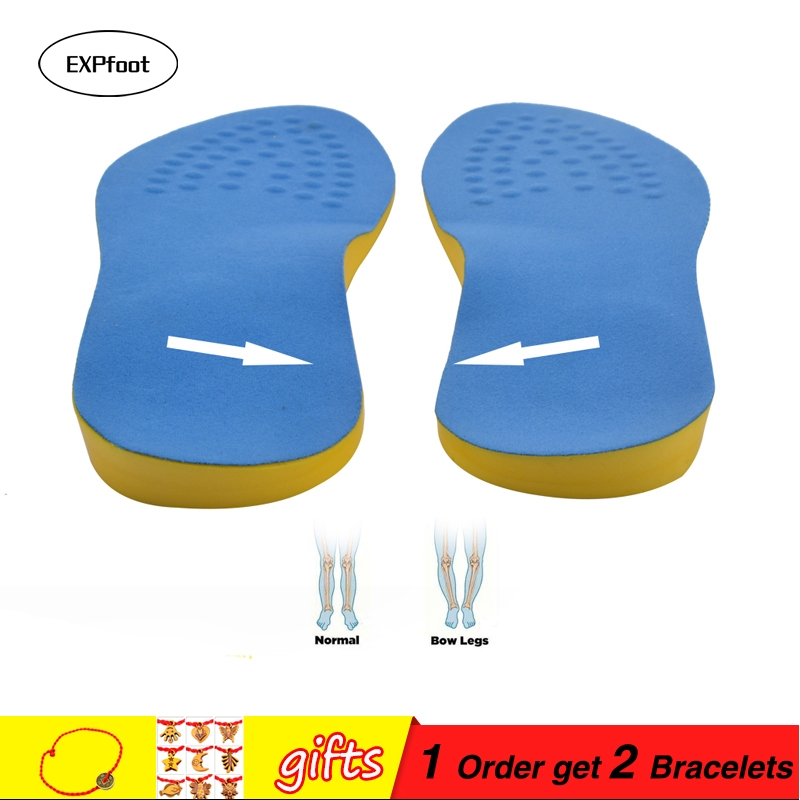 EXPfoot PU Cotton Unisex Bow Leg Valgus Varus Corrector Orthotic Insoles Comfortable Breathable Massaging Foot Pads Inserts