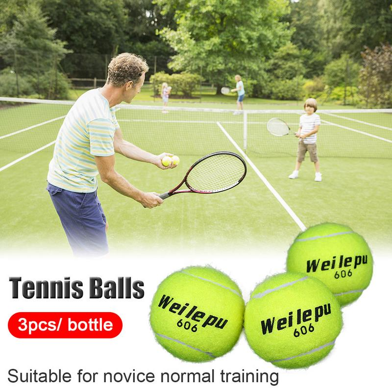 Green Advanced Rubber Training Tennis Balls Practice Ball Good Quality  Cheap Price Useful Tools Fit Sports