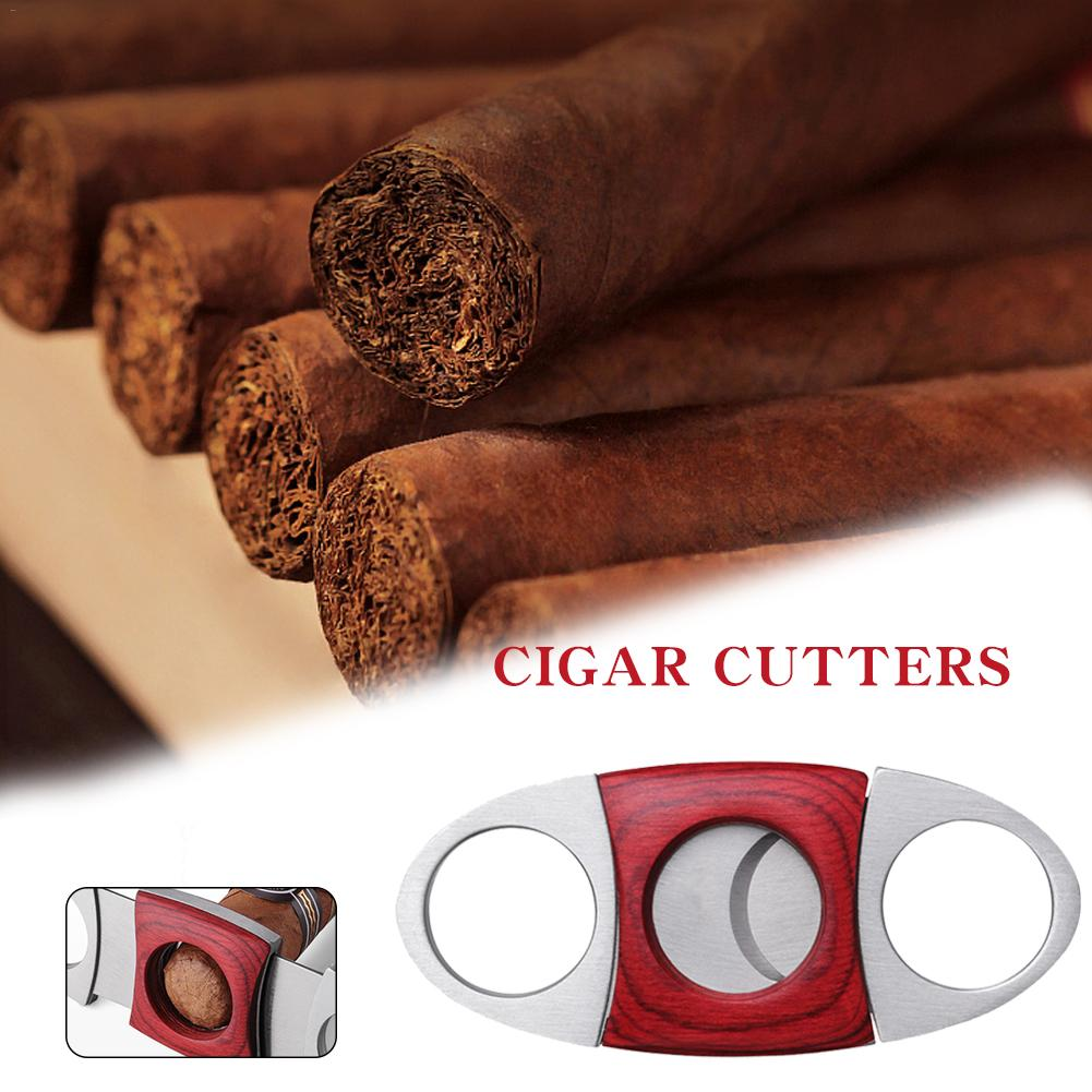 Brand New Redwood Stainless Steel Double-Edged Cigar Cutter Scissors Cuban Cigar Accessories Cigar Scissors Gift image