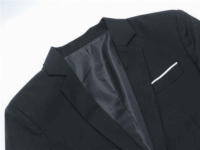 Blazer de algodón de moda de corte Delgado coreano para hombre Chaqueta de traje Negro Azul talla grande M a 3XL chaquetas de hombre boda