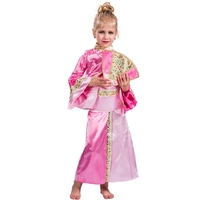 Child Geisha Costume Girls Asian Japanese Dress For Children