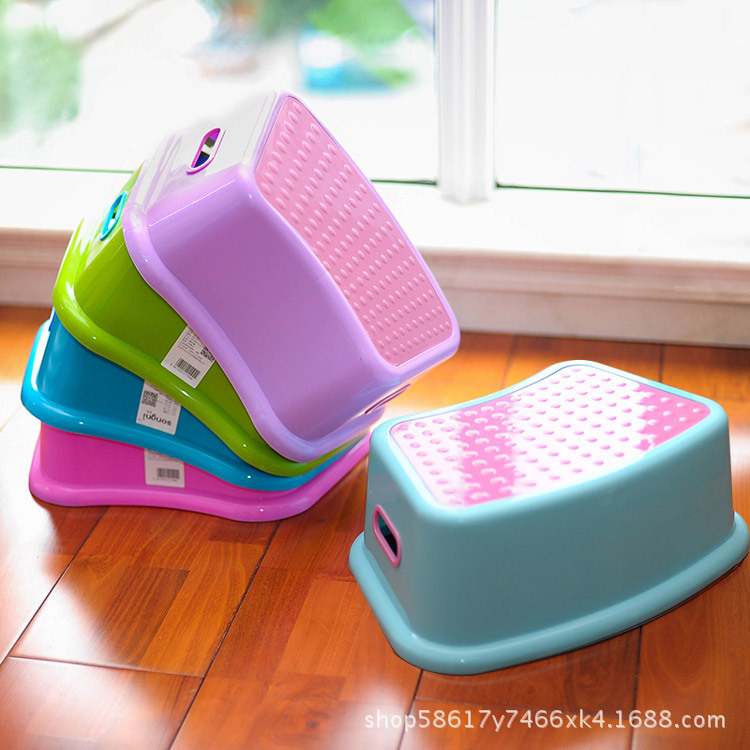 New Toilet Ottoman Stool Home Stool Creative Bathroom Stool Kindergarten Children Plastic Stool Wholesale(China)
