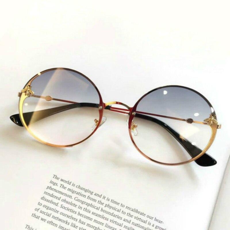 5b4b93737f19 Негабаритных солнцезащитные очки круглые Для женщин ...