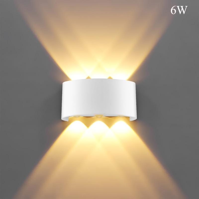 Led Indoor Wall Lamps Ac100v/220v 2w 4w 6w 8w Led Wall Lamps Aluminum Indoor Decorate Wall Sconce Bedroom Led Wall Light Indoor And Outdoor Decoration