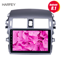 Harfey GPS Navi Head unit Player For 2007 2008 2009 2010 Toyota OLD Corolla Android 8.1/7.1 9 2 Din Car Radio with Bluetooth