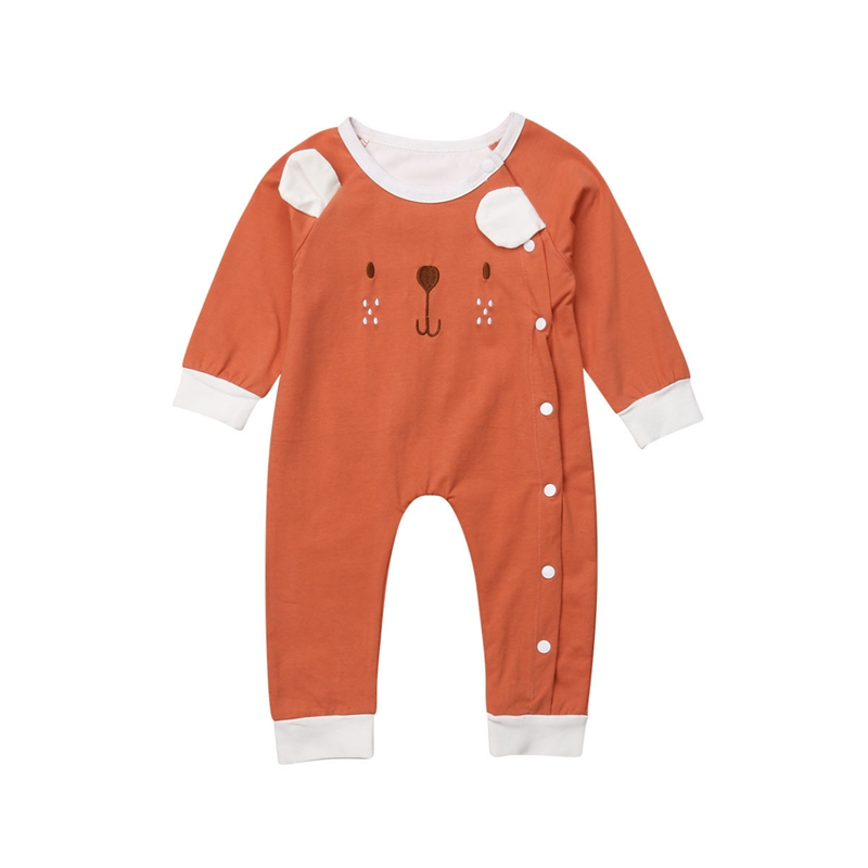 Newborn Baby Boys And Girls Cartoon Bear Romper Playsuit Jumpsuit Clothes Outfits Set Cute Autumn
