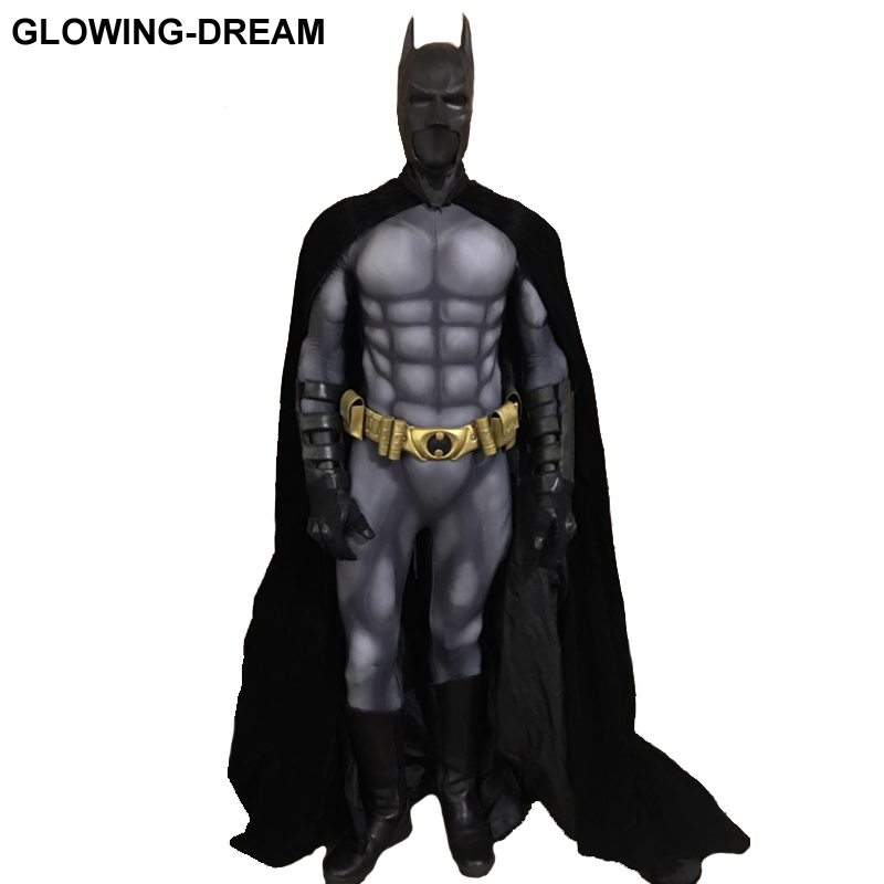 High Quality Batman Costume Batman Muscle Suit With Muslce Padding Inside Only Bodysuit