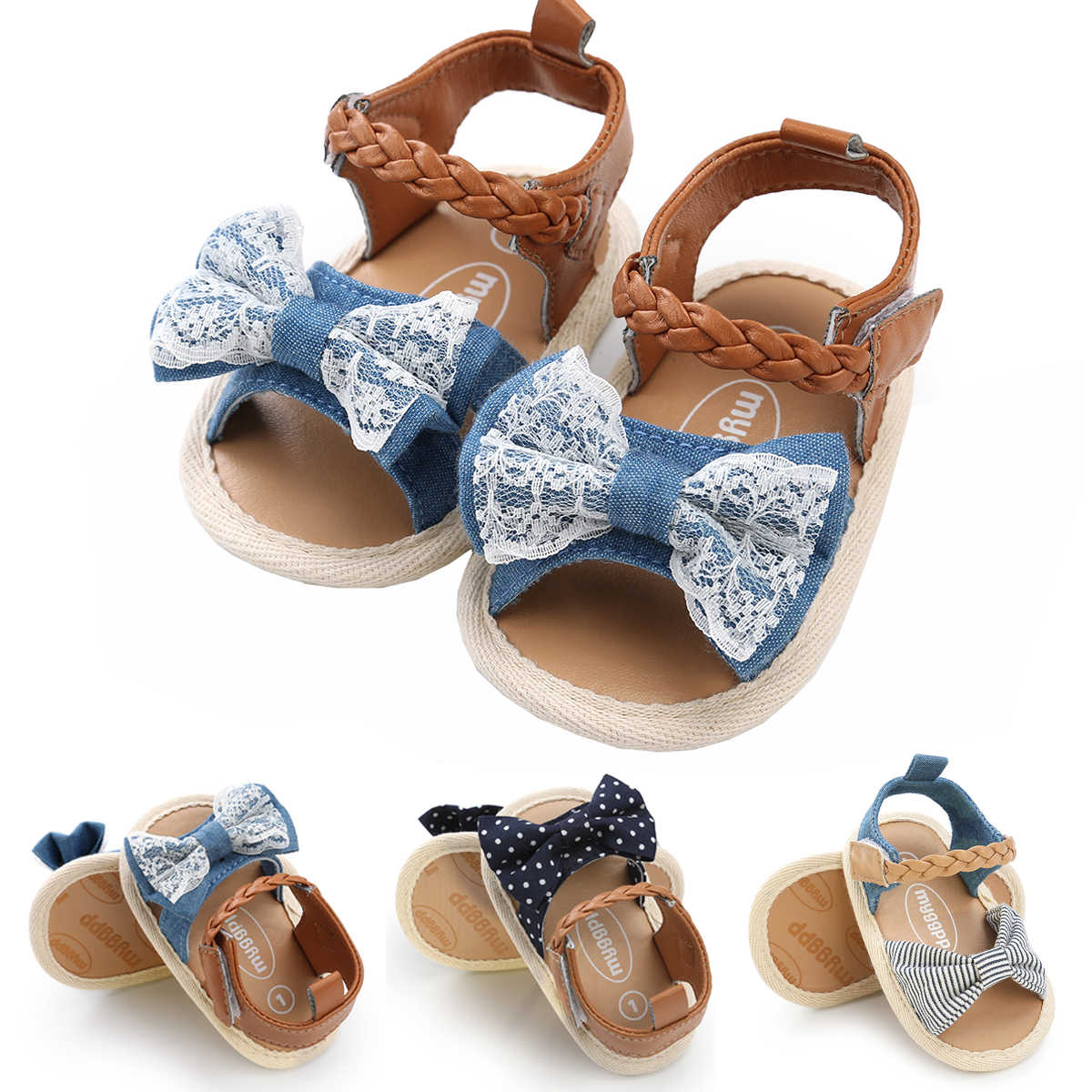 031ca6ad63ace 2018 New Sweet Newborn Baby Kid Girl Leather Princess Sandals Soft Crib Bow Shoes  Toddler Prewalker
