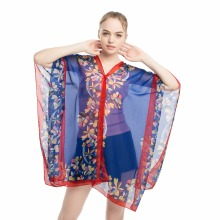 beach wear sarong bikini kimono cover-up wrap shawls pareo print chiffon polyester shawl 90x145CM summer wraps shirts