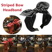 Cute Striped Print Hairbands Striped Knot Headbands for Women Girls Head Bands New Fashion Rabbit Ears Bow Hair Accesories striped knot top