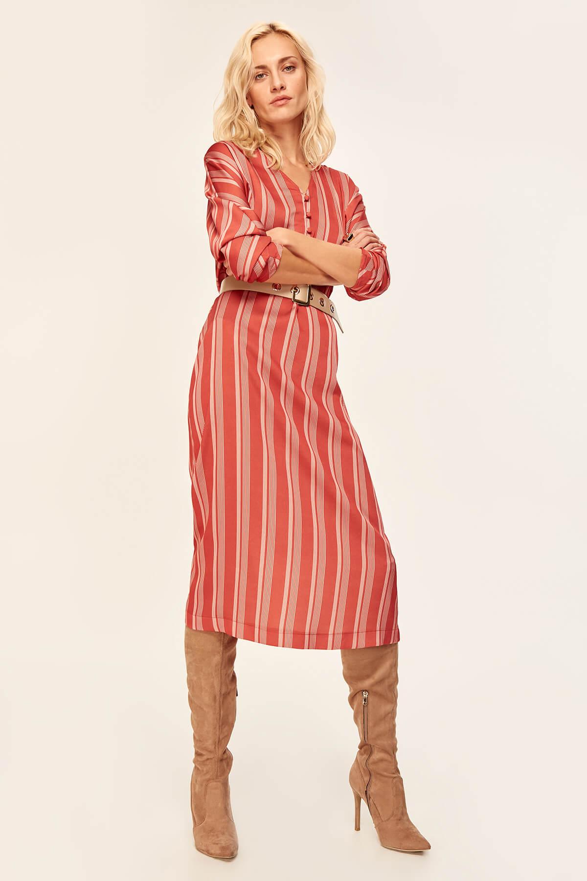 Trendyol Tile Striped Dress TOFAW19LE0042 2