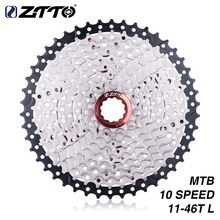 ZTTO Bicycle 10 Speed Cassette 11-46T S 10v 46t k7 Wide Ratio MTB Mountain Bike Freewheel sprocket Part High Quality