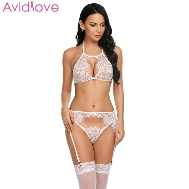 Avidlove Women Lingerie Set Sexy Costumes Plus Size Summer Women Sexy Underwear Body Stocking Slips Teddy Sleepwear Pajamas