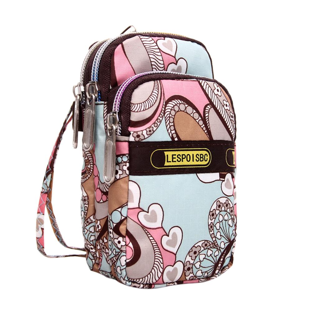 Wallet Wrist-Straps Hanging-Neck-Bag Outdoor Sports Women Oxford Nylon Zippers Beautiful