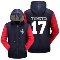Dj Tiesto Wishot # 17 Printed Show Rope Men Winter Jacket Hooded Jacket Super Hot Thick Hoody Hot Zip Fleece Outerwear & Coats