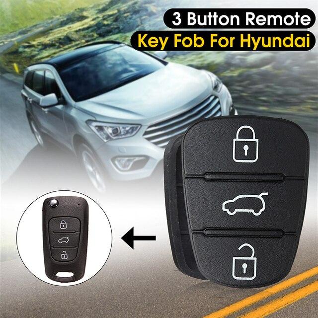 Новый 3 кнопки дистанционного брелока чехол для ключей резиновая прокладка для hyundai I10 I20 I30 Флип ключ оболочки чехол для автомобиля