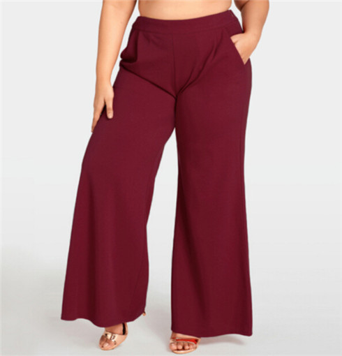 Women's Clothing Methodical Plus Size Women Ladies Office Loose Stretch Wide Leg Long Pants Palazzo Trousers Hot Oversize Xl-4xl