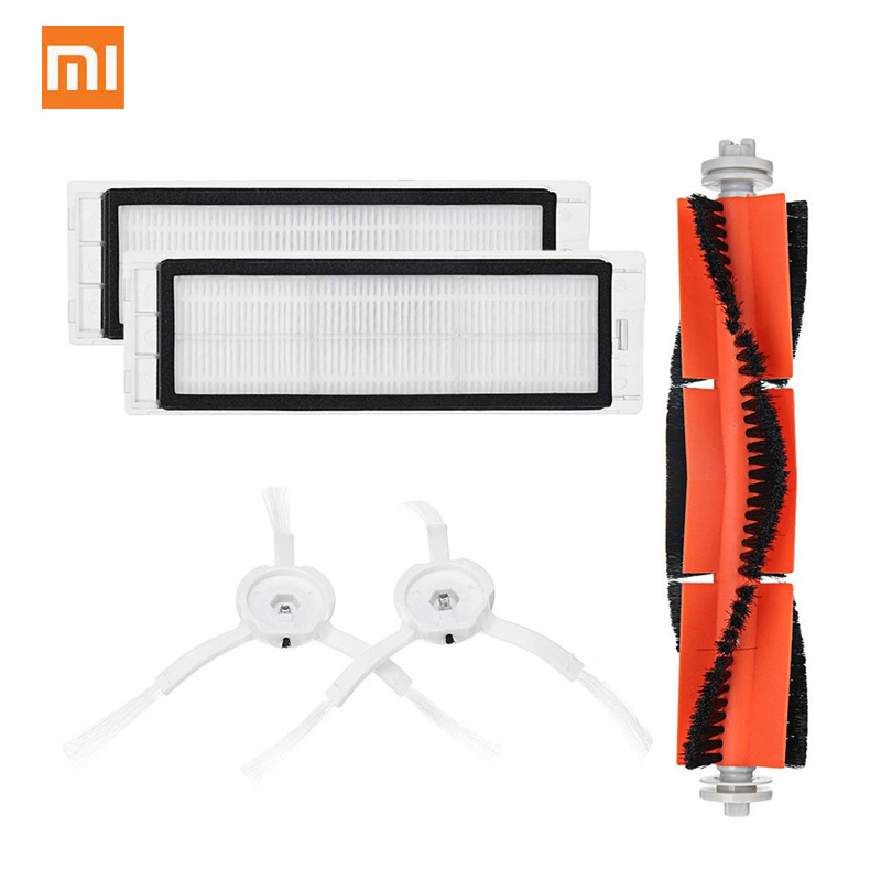 Original Economic 5PCS Set For 01 Mi Robot Vacuum Smart Cleaner Accessories Invisible Wall Side Brushes Filter Rolling Bush