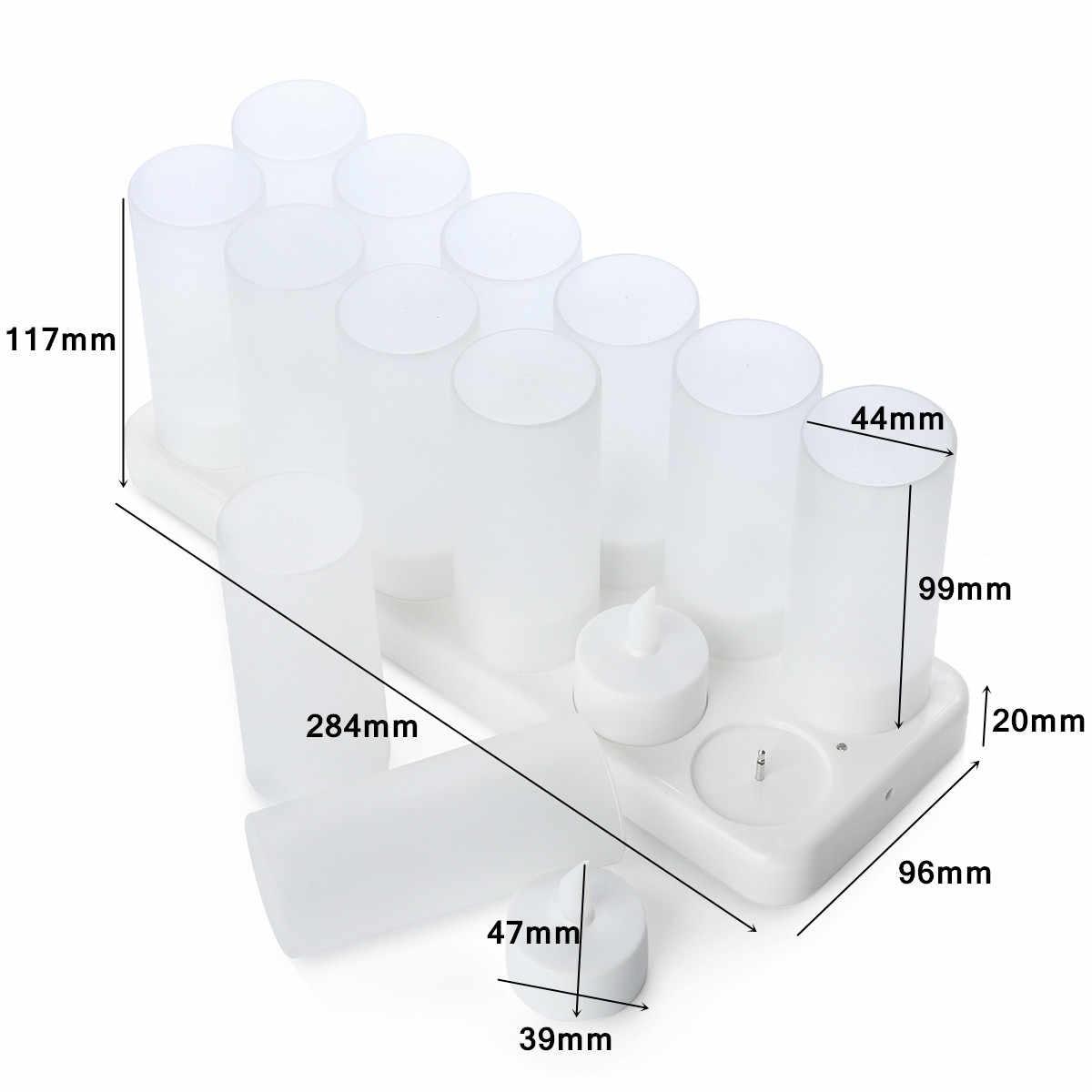 12 có thể sạc lại Nhấp Nháy DẪN Đèn Trà Nến Với Chủ Cho Bữa Ăn Tối Đám Cưới Ngọn Lửa Định Hình LED Bóng Đèn cho Đám Cưới Của Bên